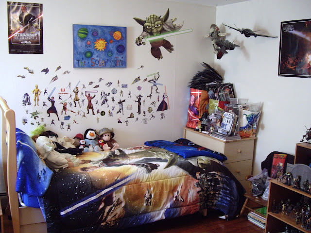 Star Wars Bedroom Ideas : Star Wars: Customs for the Kid: MY STAR WARS BEDROOM GETS AN UPDATE