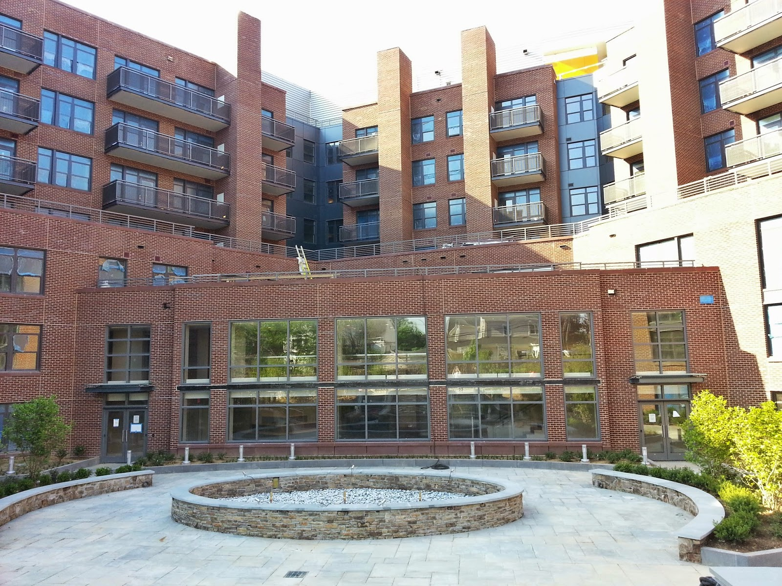 Lovely Hereu0027s A Sneak Peek At The Park/plaza Common Area Behind The Flats At  Bethesda Avenue Luxury Apartments. Some Vegetation Is In Place, As Well As  Most Of The ...