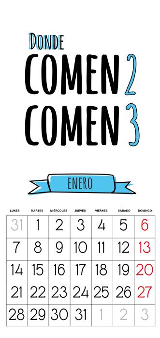 Calendario 2013  gratis enero