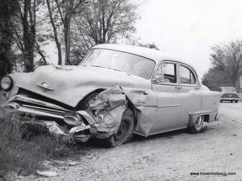 HOVER MOTOR COMPANY: Wrecked old cars and crashes
