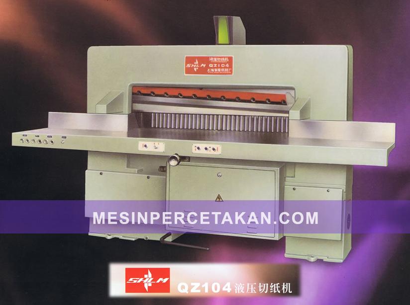 Mesin Potong Kertas QZ 104 | Otomatis Hidrolik