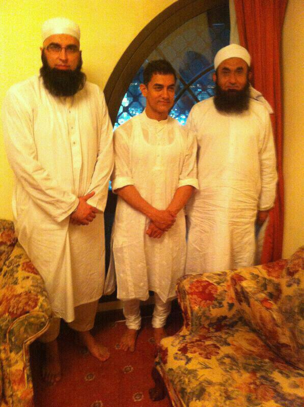 When Aamir Khan met Maulana Tariq Jameel and Junaid Jamshed 2012