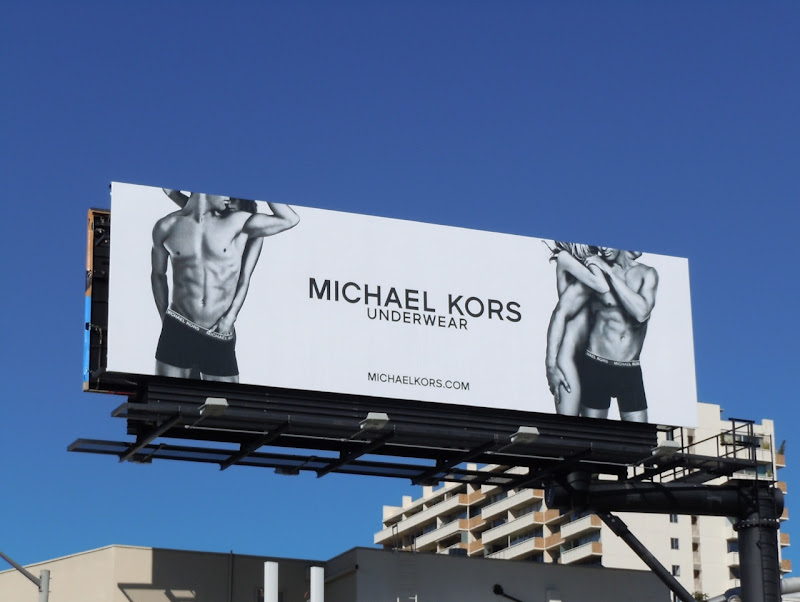 Michael Kors underwear billboard