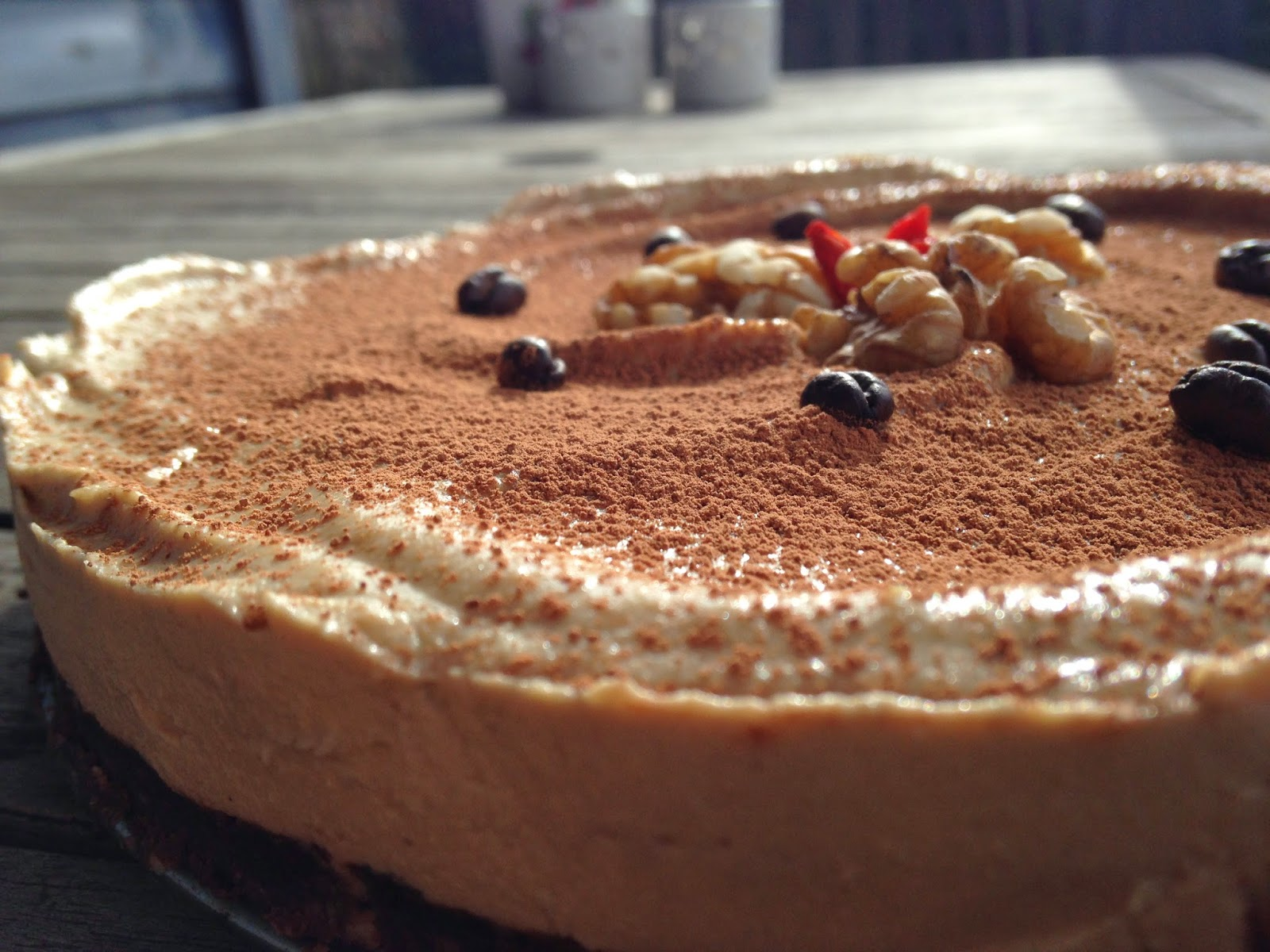 Kawa z wanilią na czekoladzie (RAW) - Surowe tiramisu