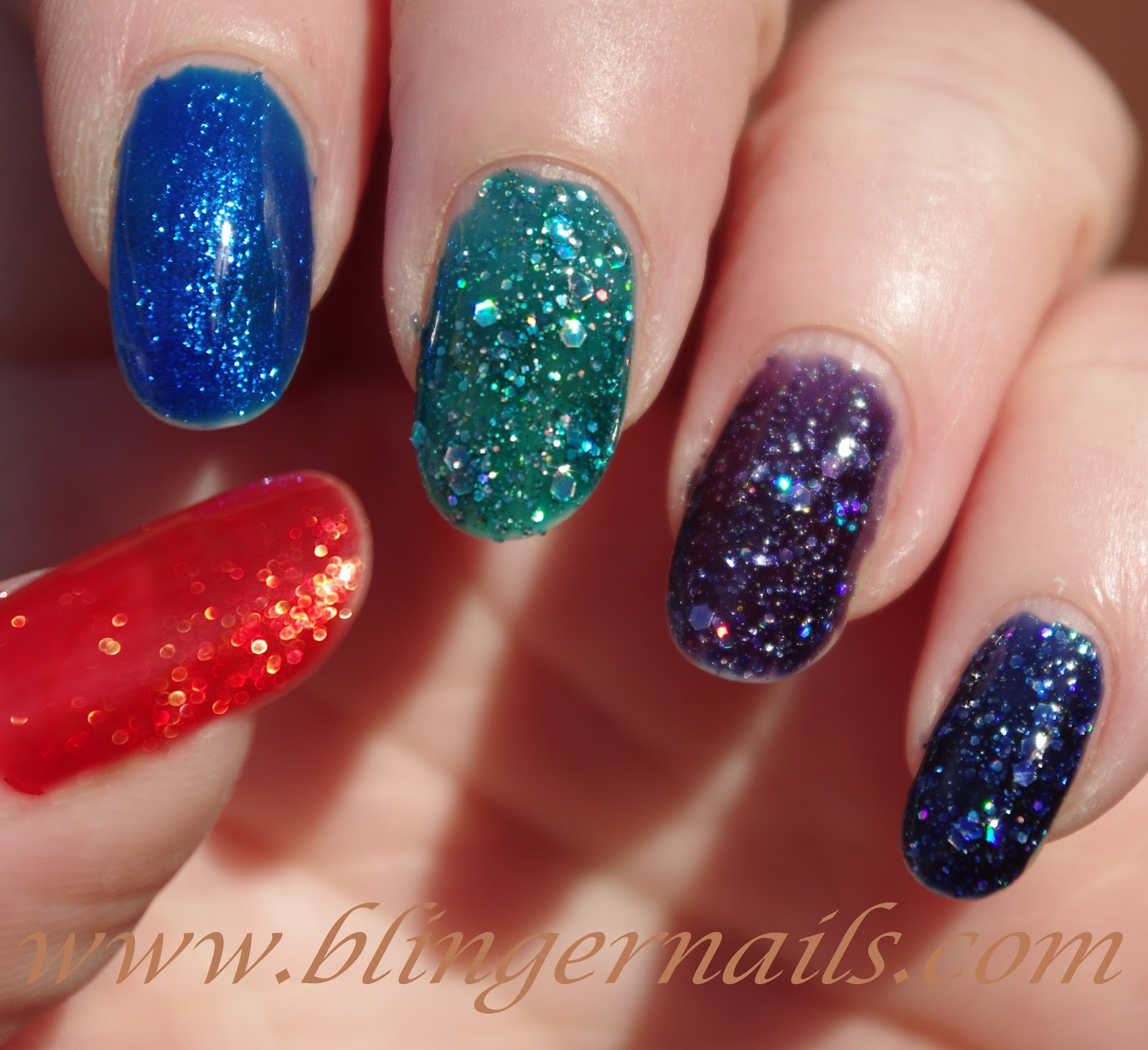 Blingernails: Bluesky Shellac - Diamond Plum