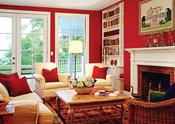 Hice Del Baño Color Amarillo:Red Living Room Colors