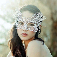 Bride Wearing Elegant Mask