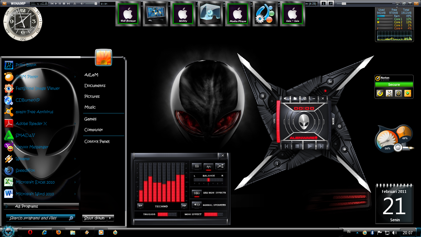 Download theme alienware untuk windows xp