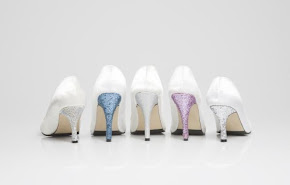 Bedazzled IVory Shoes with Modern Twist - Glitter Heels