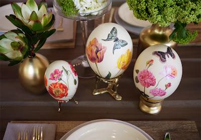 Huevos con decoupage en Recicla Inventa