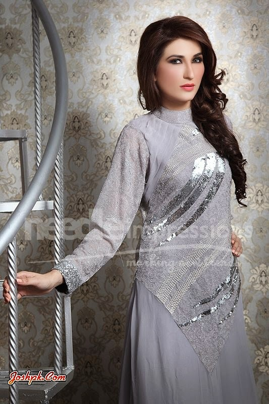 Needle Impressions Stylish Party Frocks Collection 2014 For Women