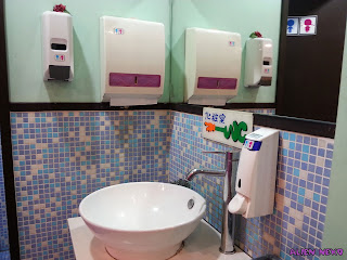 Restroom at toilet themed restaurant