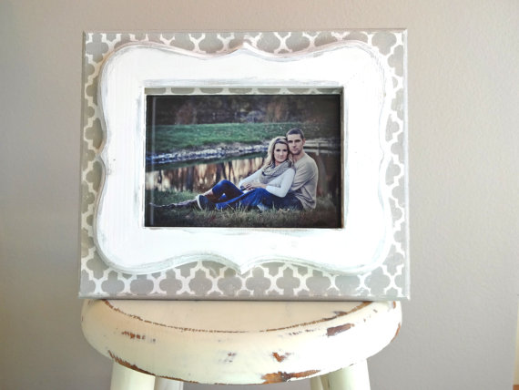 giveaway chunky grey and white printed frame from love grey home