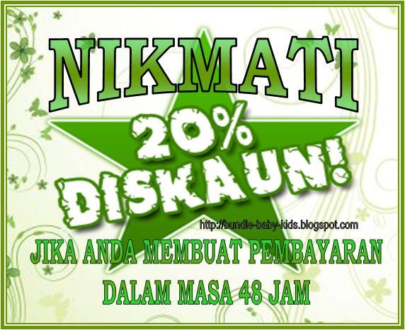 Diskaun 20%