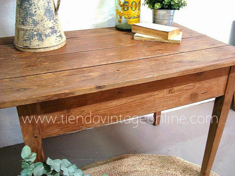 Comprar mesa tocinera vintage de madera restaurada para decoración