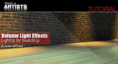 Adam shows you how too easily create spotlight lighting with the added effect of dust showing in them...pretty cool...we like LightUp! & SketchUpArtists: Volume Light Effects - LightUp for SketchUp