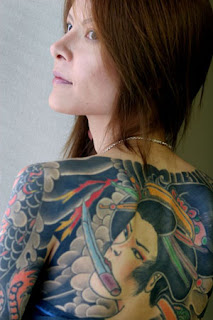 Japanese Tattoo Girl Back Body Tattoo