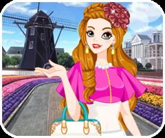 game cô gái Hà Lan, chơi game thoi trang co gai ha lan tại GameVui.biz