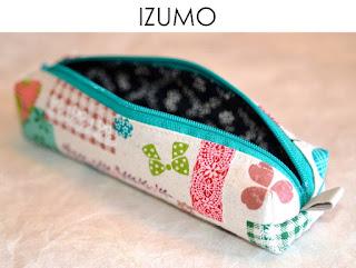 Federmäppchen Izumo aus japanischen Stoffen von Noriko handmade, handgemacht, Einzelstück, Unikat, Design, Stiftetui, Mäppchen, Federmappe
