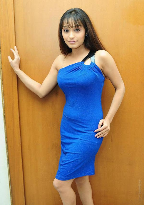 side | arya vora in blue hot photoshoot