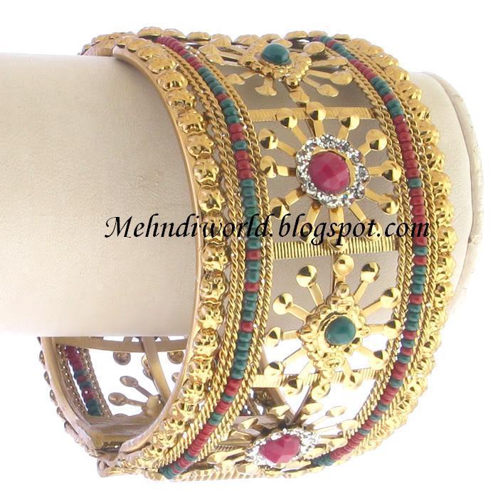 Mehndi Design Pictures: Bridal Gold Bangles Latest Bridal Gold ...