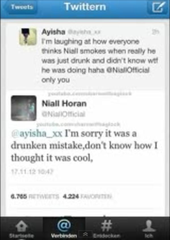 Niall Horan Smoking