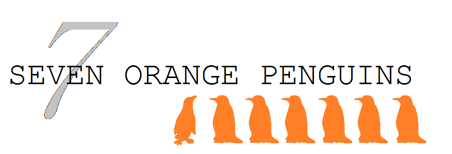 Seven Orange Penguins