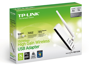 Wifi адаптер с антеной Tp-link Tl-wn722n