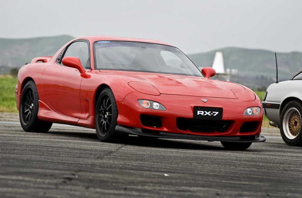 niskie, sportowe, zawieszenie, Mazda RX-7 FD
