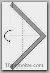 Bước 3: Gấp cạnh giấy về phía mặt đằng sau tờ giấy.