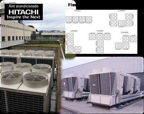 Alta tecnología de las enfriadoras Hitachi y sus ventajas al ser modulares.