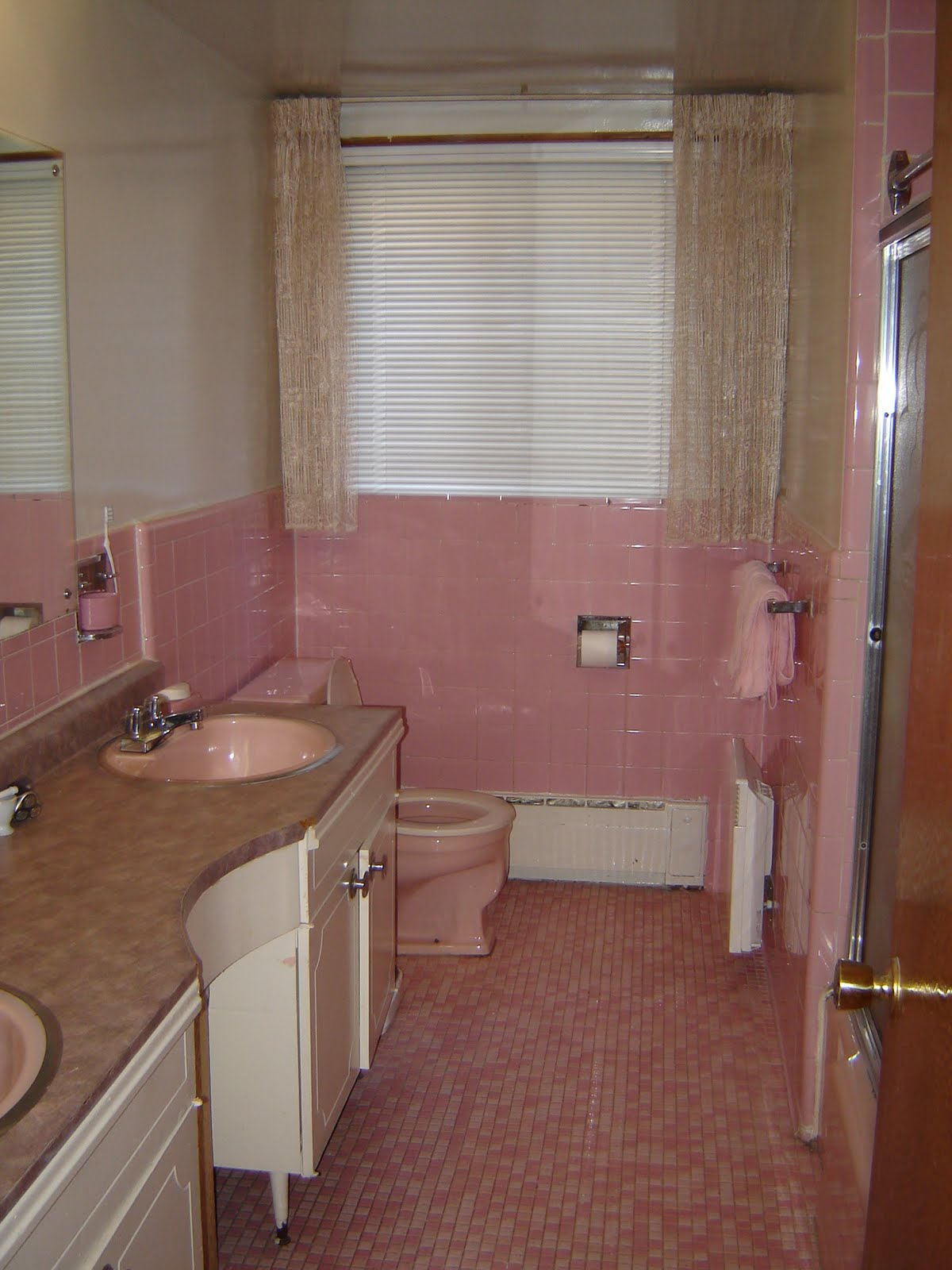 Outdated Pink Bathroom Gets a Complete Makeover!  YouTube