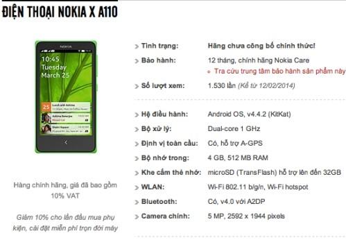 Svelato il prezzo del primo smartphone android Nokia X in Vietnam