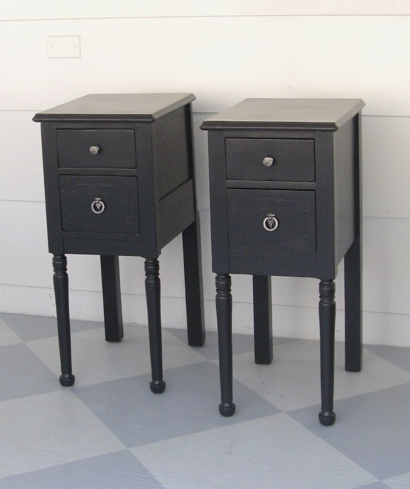 1 vanity 1 good idea 2 nightstands lovely etc for Extra tall nightstands