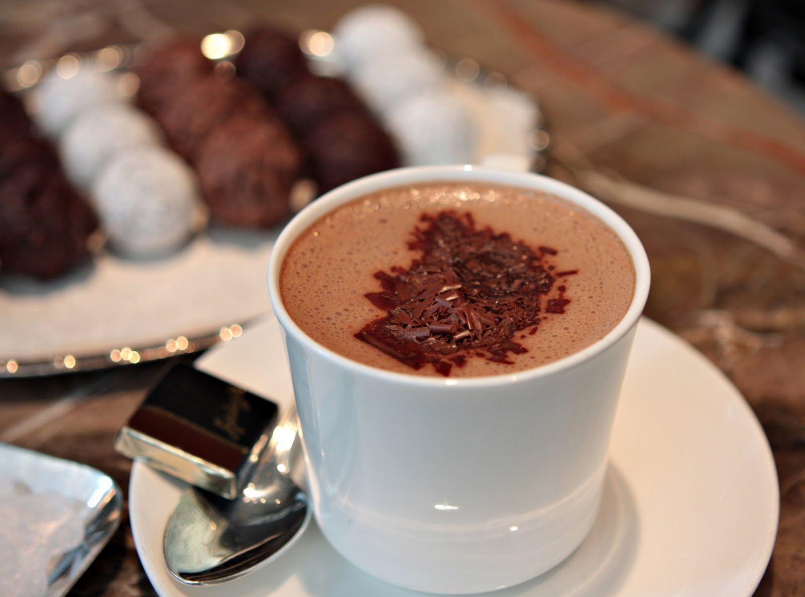 Do you know that the first cocoa drink is a spicy, frothy, thick, cold ...