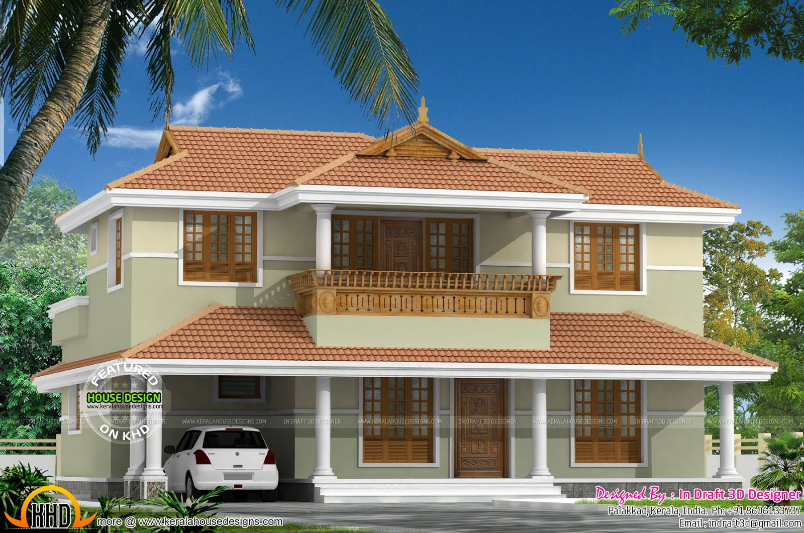2350 sq ft typical kerala home kerala home design and for Typical house design