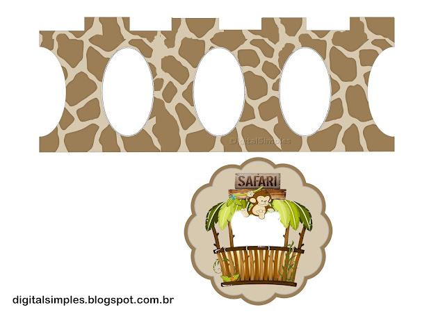 Safari Bebés: Stand para Cupcakes para Imprimir Gratis.