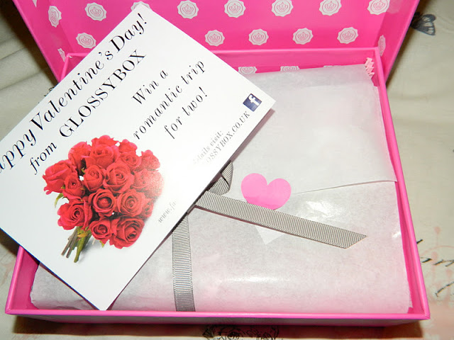 January Valentine's Day themed GlossyBox