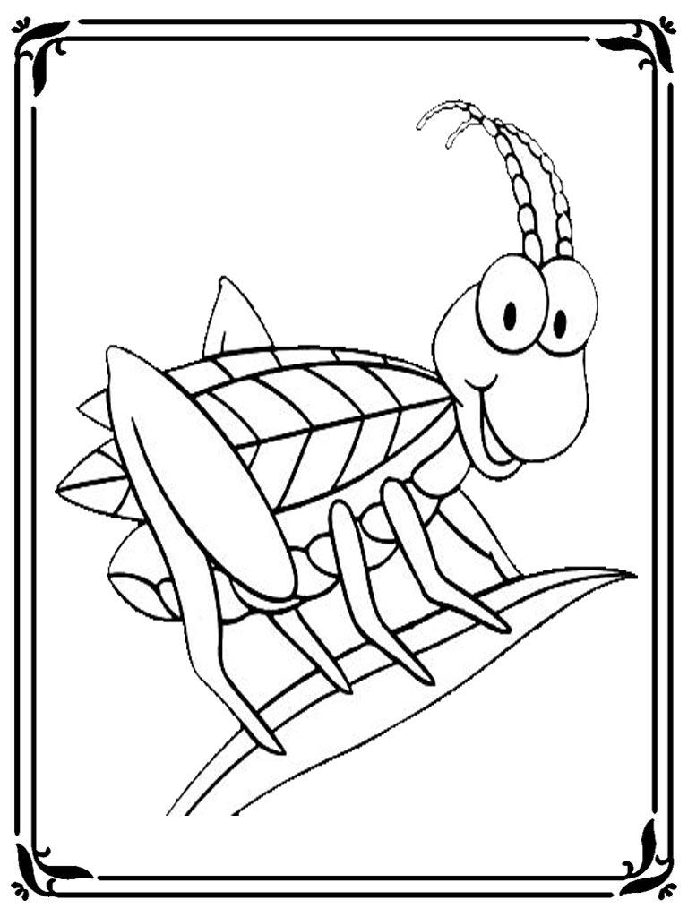 Locust Free Printable Coloring