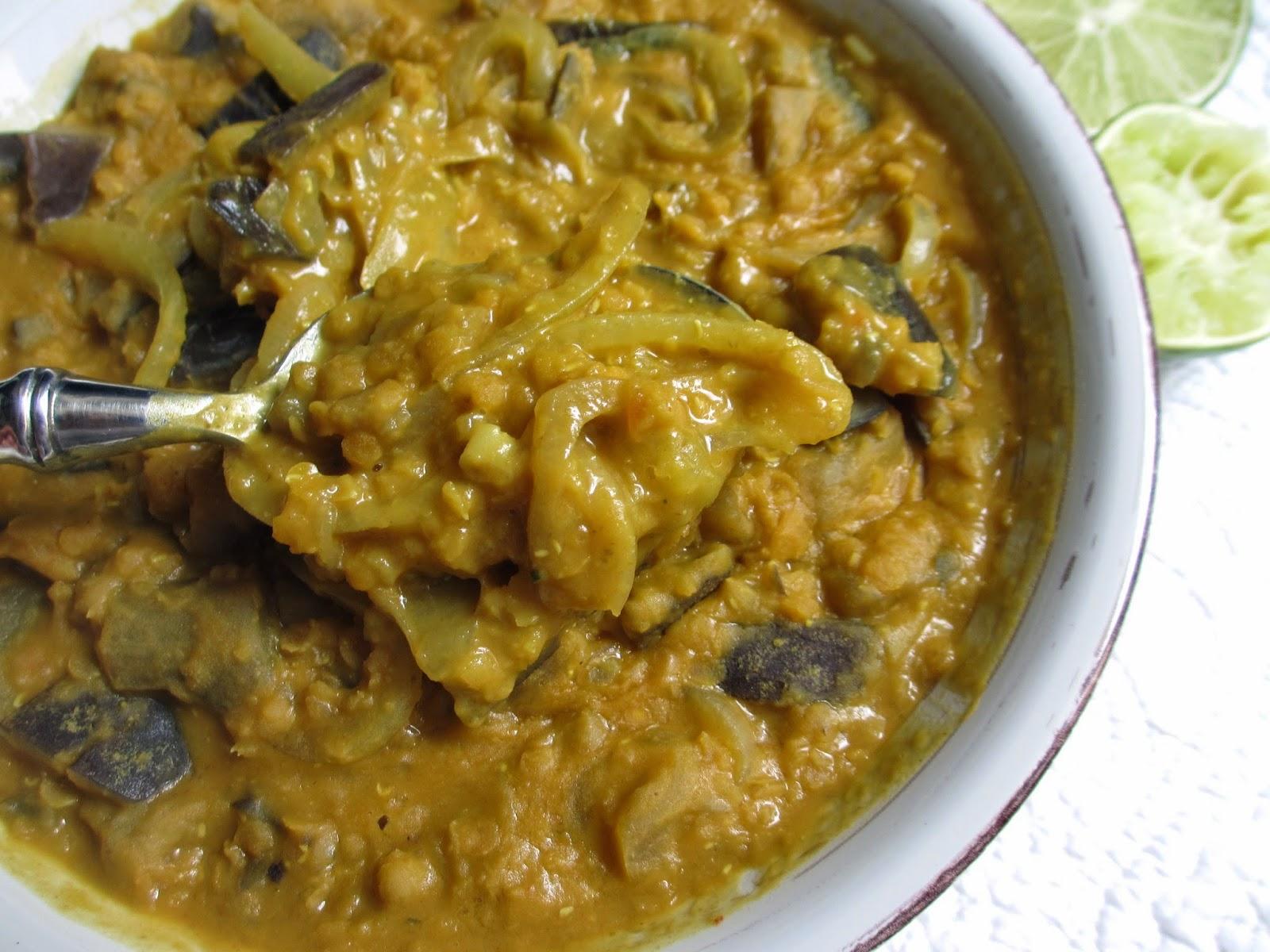 Cooking julia dhal d 39 aubergines et lentilles corail for Cuisine naturelle