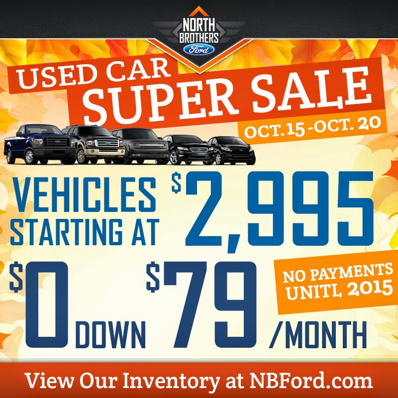 Used Car Super Sale at North Brothers Ford