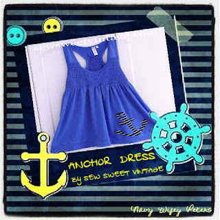 anchors away dress by Sew Sweet Vintage