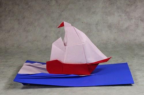 origami for kids boat