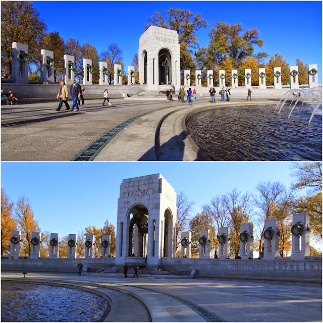 World War 2 memorial at Washington DC, USA