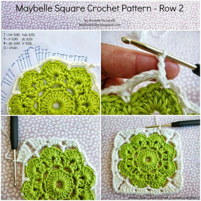 Grannys paso a paso para principiantes crochet y dos - Labores de ganchillo para principiantes ...