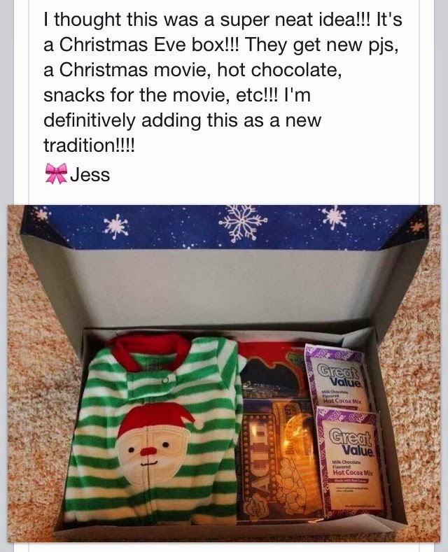 Christmas eve box i love this idea here is a great tradition to