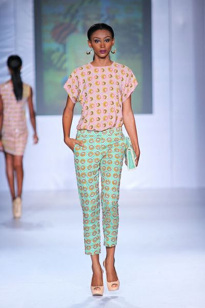 MTN Lagos Fashion and deisgn week: Jewel by lisa printed trousers