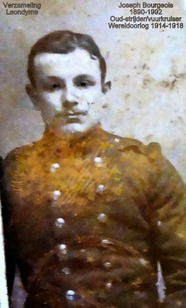 Joseph Bourgeois 1890-1992, oud-strijder/vuurkruiser 1914-1918. Foto legerarchief Evere