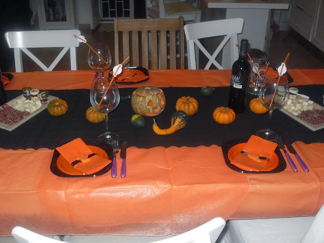 tavola di halloween