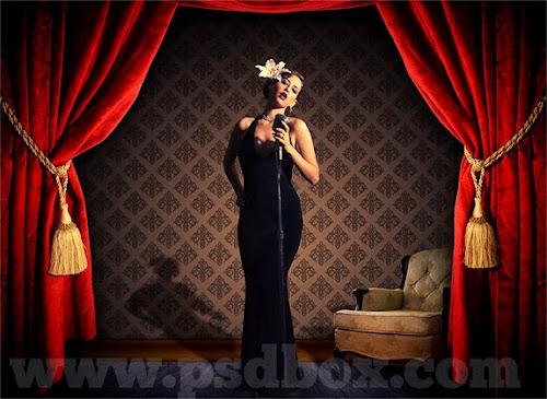 Papel de parede editável - On the Stage PSD Grátis